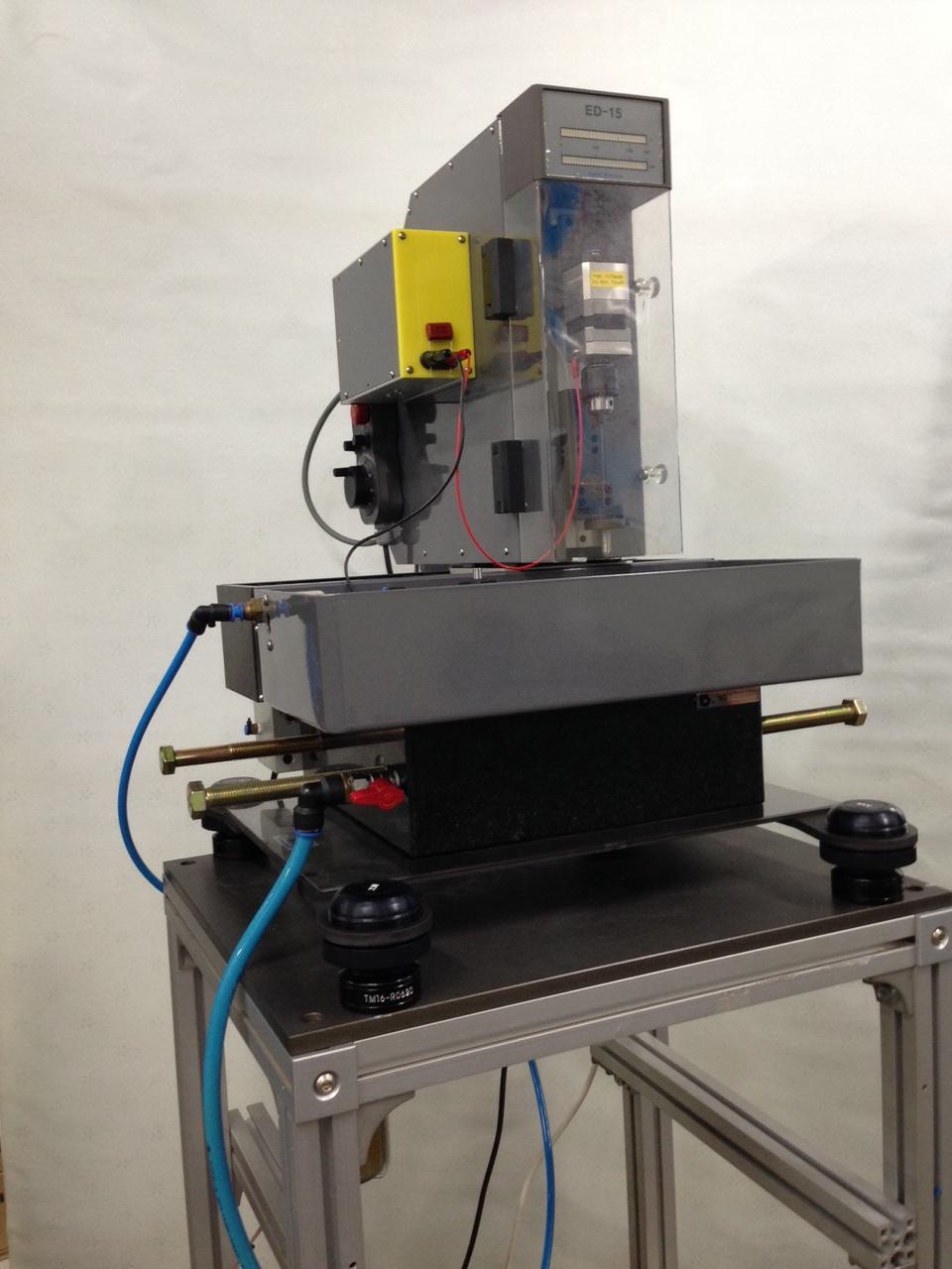 마이크로 방전가공기, Micro Electric spark machine with CTM series (iVIC Co). coil spring vibration isolation Platform.